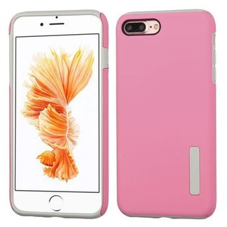 Insten Pink/ Gray Hard PC/ Silicone Dual Layer Hybrid Rubberized Matte Case Cover For Apple iPhone 7 Plus