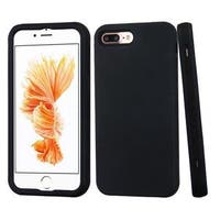 Insten Black Verge Hard PC/ Silicone Dual Layer Hybrid Rubberized Matte Case Cover For Apple iPhone 7 Plus