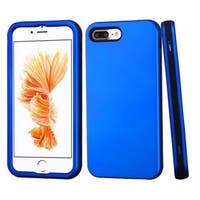 Insten Blue/ Black Verge Hard PC/ Silicone Dual Layer Hybrid Rubberized Matte Case Cover For Apple iPhone 7 Plus