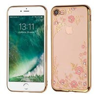 Insten Gold Secret Garden TPU Rubber Candy Skin Case Cover For Apple iPhone 7