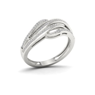 S925 Sterling Silver 1/5ct TDW Diamond Fashion Ring