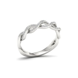 S925 Sterling Silver 1/6ct TDW Diamond Fashion Ring
