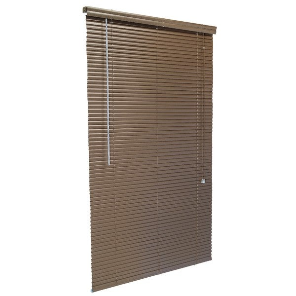 1-Inch Aluminum Blind Charbrown 71 to 107-inches Wide