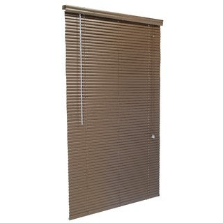 1-Inch Aluminum Blind Charbrown 31 to 39-inches Wide