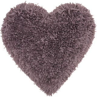 Mina Victory Heart Lavender Shag Throw Pillow (18-inch x 18-inch) by Nourison