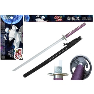 Officially Licensed Gintama White and Purple Metal Handle/ Foam Yasha Sword