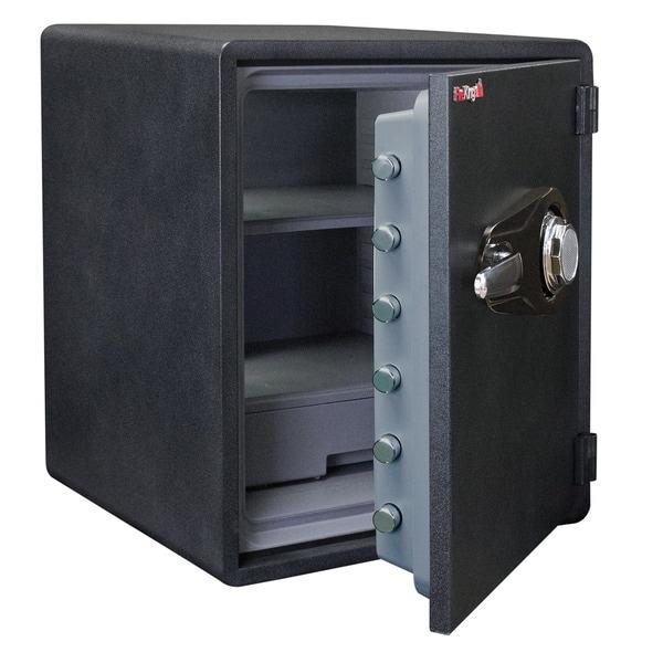 FireKing Business Class 1-Hour Rated Fire Safe, Fingerprint Scanner Lock, 24in H x 21in W x 19in D