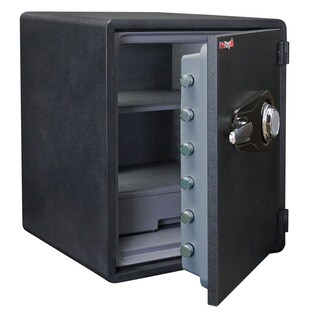 FireKing Business Class 1-Hour Rated Fire Safe, Fingerprint Scanner Lock, 24in H x 21in W x 19in D
