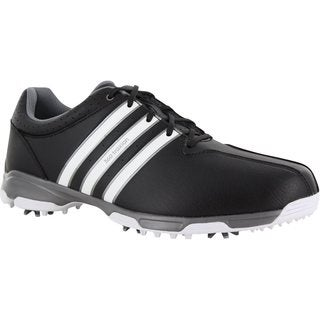 Adidas Men's 360 Traxion Core Black/White/Iron Metallic Golf Shoes