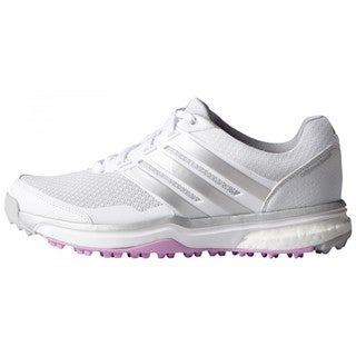 Adidas Women\u0027s Adipower Sport Boost 2 White/ Matte Silver/ Wild Orchid Golf  Shoes (