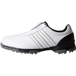 91d98fd3585c Shop Adidas Men s 360 Traxion BOA White  Core Black Golf Shoes - Free  Shipping Today - Overstock.com - 14123993