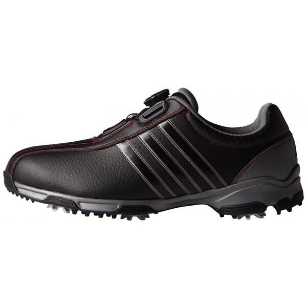 Adidas Men's 360 Traxion BOA Core Black/ Iron Metallic Golf Shoes
