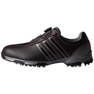 Adidas Men's 360 Traxion BOA Core Black/ Iron Metallic Golf Shoes