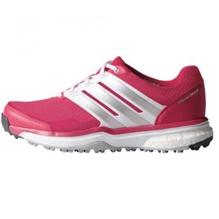 Adidas Women's Adipower Sport Boost 2 Raspberry Rose/ White/ Silver Golf Shoes