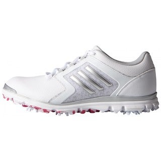 Adidas Women's Adistar Tour White/ Matte Silver/ Raspberry Rose Golf Shoes
