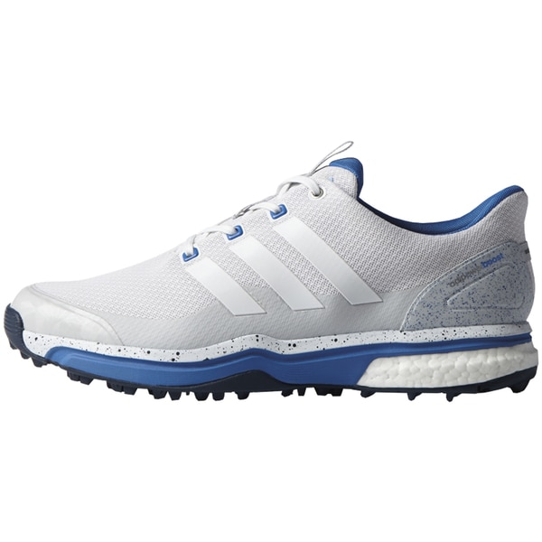Adidas Men's Adipower Sport Boost 2 White/ Grey/ Blue Golf Shoes