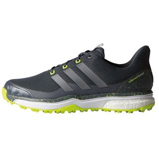 Adidas Men's Adipower Sport Boost 2 Onix/ Iron Metallic/ Solar Yellow Golf Shoes