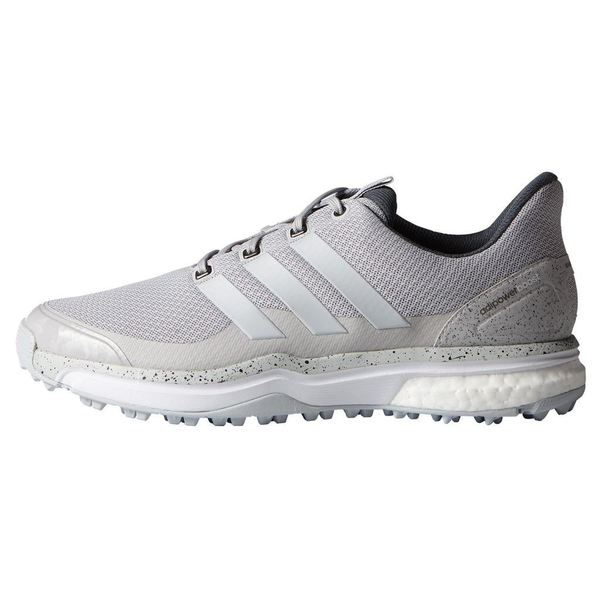 Adidas Men's Adipower Sport Boost 2 Solid Grey / White  Golf Shoes