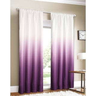 Silver Orchid Fontaine Ombre Window Curtain Panel Pair