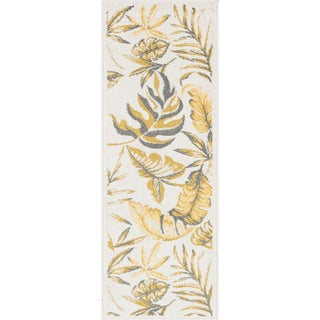 Palm Ivory/ Citron Rug (1'8 x 5')