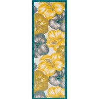 """Palm Ivory/ Multi Floral Rug - 1'8"""" x 4'11"""""""