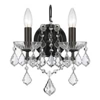 Crystorama Filmore Collection 2-light Vibrant Bronze/Swarovski Elements Strass Crystal Wall Sconce