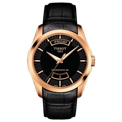 Tissot Men's Couturier Black-dial Automatic Watch - black