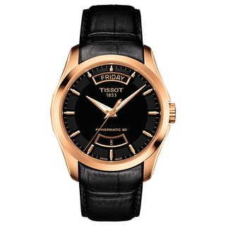 Tissot Couturier Black-dial Automatic Watch