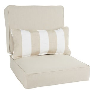 Oakley Sunbrella Solid Indoor/ Outdoor Corded Chair Cushion Set and Lumbar Pillow