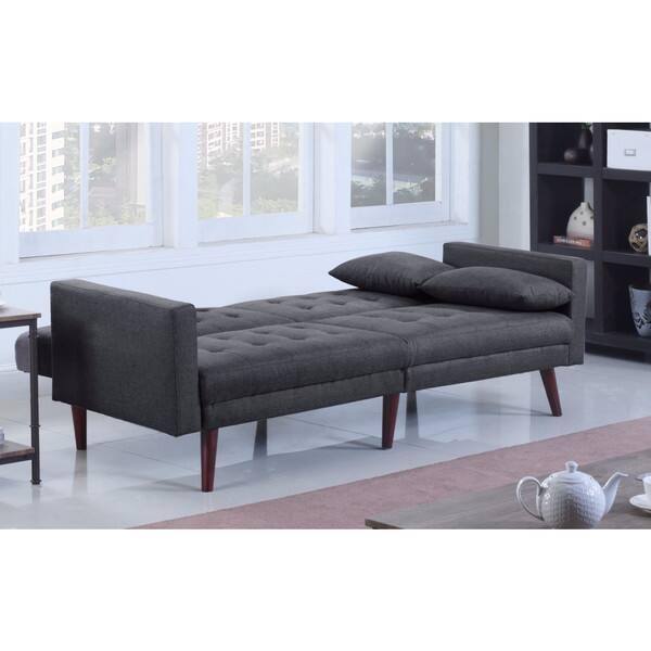 Phenomenal Shop Modern Tufted Linen Splitback Recliner Sleeper Futon Squirreltailoven Fun Painted Chair Ideas Images Squirreltailovenorg
