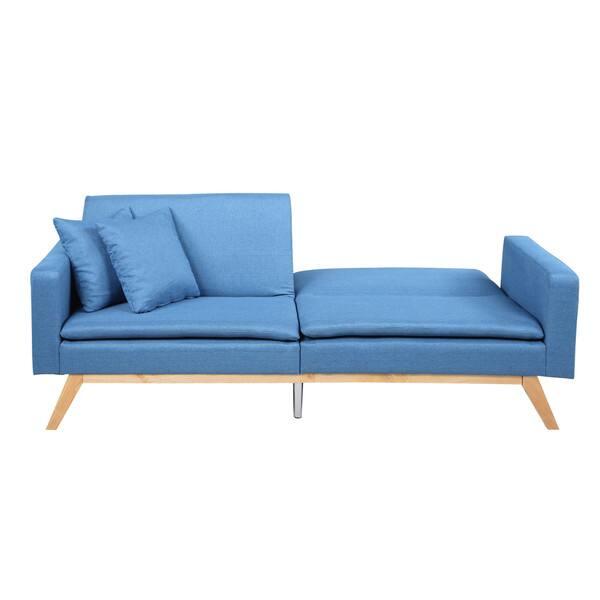 Fine Shop Modern Tufted Linen Splitback Recliner Sleeper Futon Squirreltailoven Fun Painted Chair Ideas Images Squirreltailovenorg