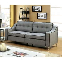 Sylvanas Contemporary Tufted Fabric Sofa By Furniture of America
