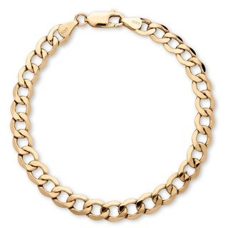 Men's 6.5 mm Curb-Link Bracelet in 10k Yellow Gold 8Inches