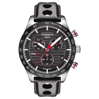 Tissot PRS 516 Men's Chronograph Black Dial Stainless Steel, Leather Watch|https://ak1.ostkcdn.com/images/products/14124749/P20729820.jpg?impolicy=medium