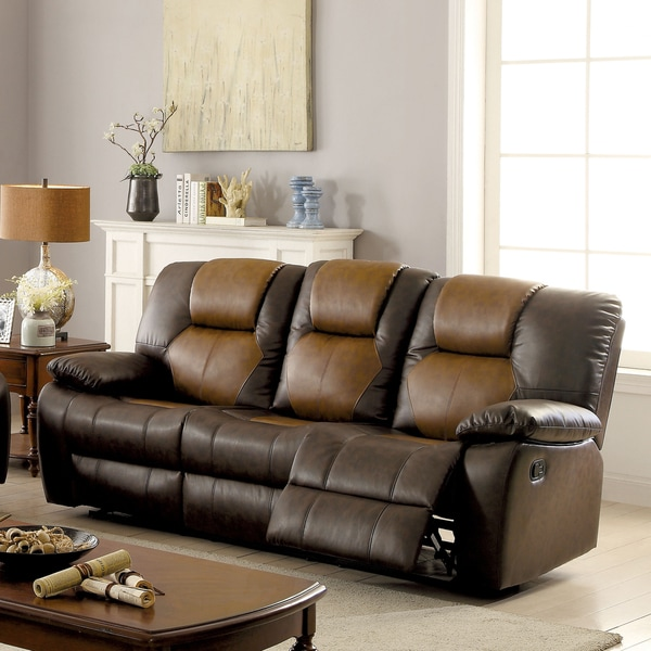 Two Tone Sofa Living Room Furniture: Shop Furniture Of America Carmez Two-tone Brown