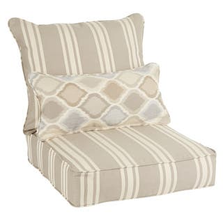 Oakley Sunbrella Striped Indoor/ Outdoor Corded Pillow and Chair Cushion Set https://ak1.ostkcdn.com/images/products/14124753/P20729808.jpg?impolicy=medium