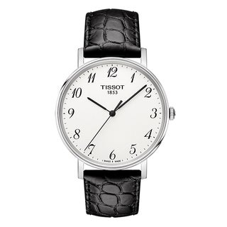 Tissot T-Classic Everytime Black Leather Unisex Watch