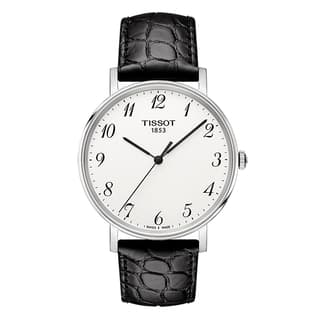 Tissot Unisex T1094101603200 T-Classic Everytime Black Leather Watch|https://ak1.ostkcdn.com/images/products/14124756/P20729821.jpg?impolicy=medium