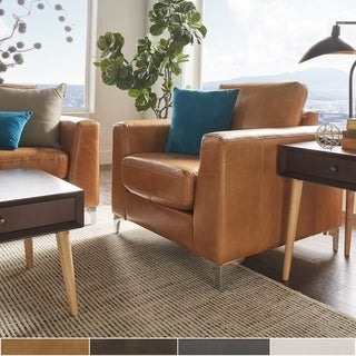 Link to Bastian Aniline Leather Chair iNSPIRE Q Modern Similar Items in Living Room Chairs
