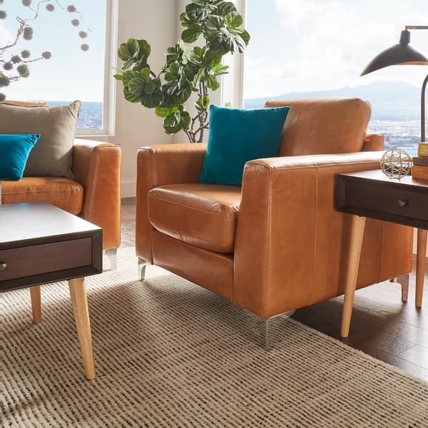 Prime Shop Bastian Aniline Leather Sofa By Inspire Q Modern On Andrewgaddart Wooden Chair Designs For Living Room Andrewgaddartcom