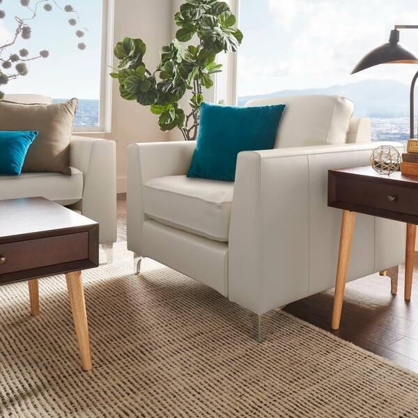 Enjoyable Shop Bastian Aniline Leather Sofa By Inspire Q Modern On Dailytribune Chair Design For Home Dailytribuneorg