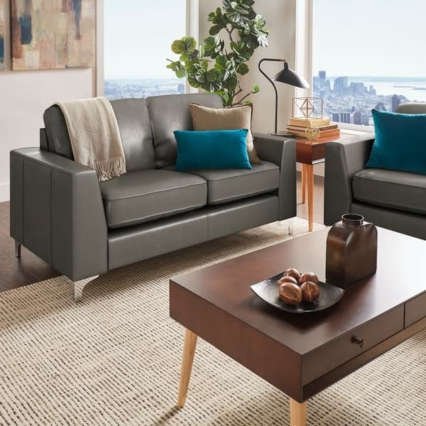 Astonishing Shop Bastian Aniline Leather Sofa By Inspire Q Modern On Pabps2019 Chair Design Images Pabps2019Com