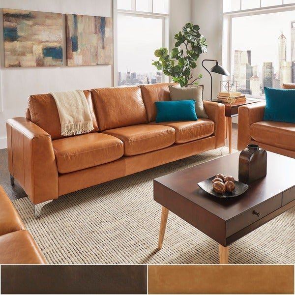 30 Modern Living Room Design Ideas To Upgrade Your Quality: Shop Bastian Aniline Leather Sofa By INSPIRE Q Modern