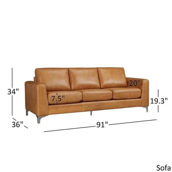 Stupendous Shop Bastian Aniline Leather Sofa By Inspire Q Modern On Pabps2019 Chair Design Images Pabps2019Com
