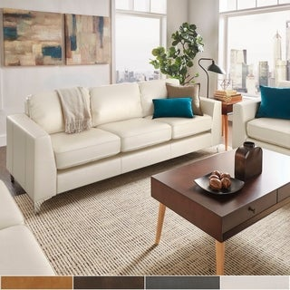 Bastian Aniline Leather Sofa by iNSPIRE Q Modern (More options available)