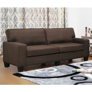 Leila Dark Brown Linen Sofa