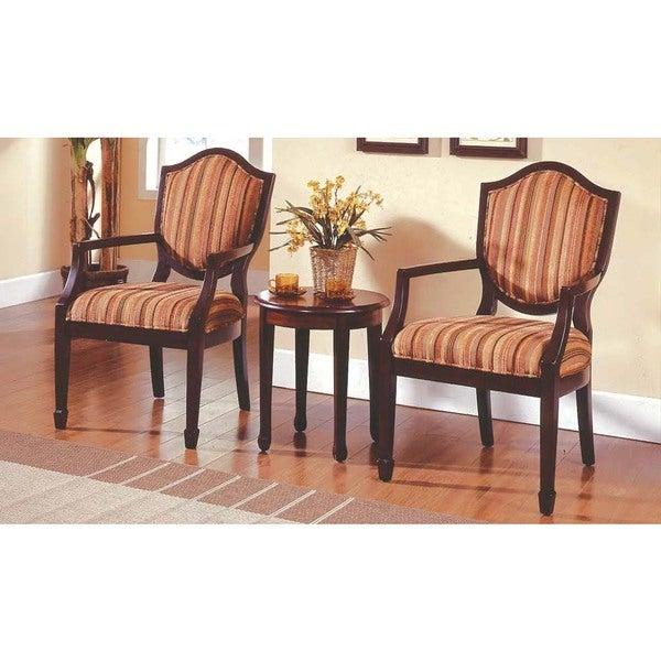 Shop Best Master Furniture 3 Pcs Accent Arm Chair Set