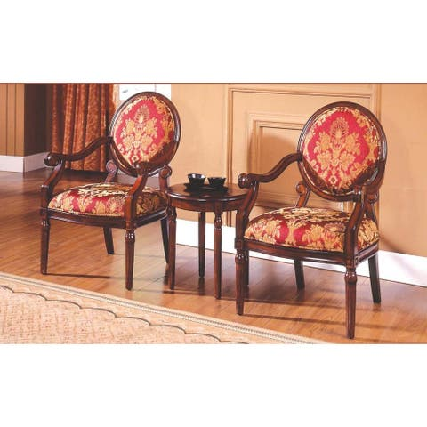 Best Master Furniture 3-piece Traditional Accent Arm Chair Set