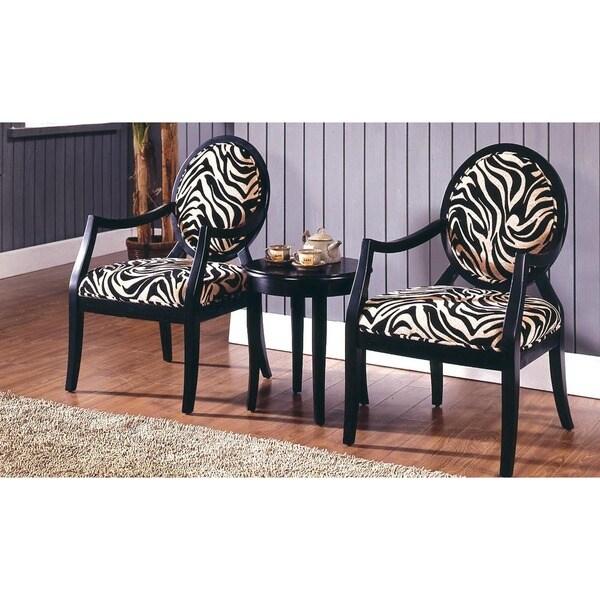 Best Master Furniture 3 Pcs Accent Arm Chair Set Free