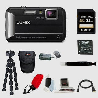 Panasonic DMC-TS30K LUMIX Active Lifestyle Tough Camera (Black) with 32GB Accessory Bundle
